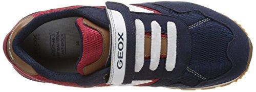 Geox J Pavel B, Scarpe da Ginnastica Basse Bambino Blu (Navy/redc0735)