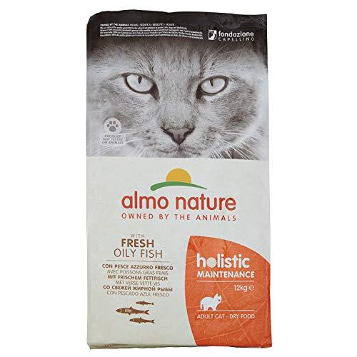 Almo Nature Holistique Maintenance complet pour chats adultes Nourriture sèche avec frais traces de poisson-12kg