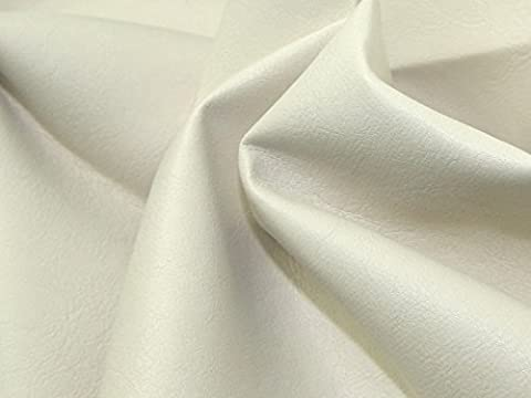 leathercloth en PVC souple en cuir synthétique cuir tissu blanc–par mètre + sans Minerva Crafts Craft Guide