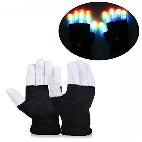 Geschenke für Mädchen ab 8 -12 Jahre, DMbaby Weihnachtsgeschenke für Kinder LED Blinklicht Bunte Rave Handschuhe DM03