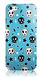 Snekz iPhone 5 Hard Gloss Hülle/Blue Skulls
