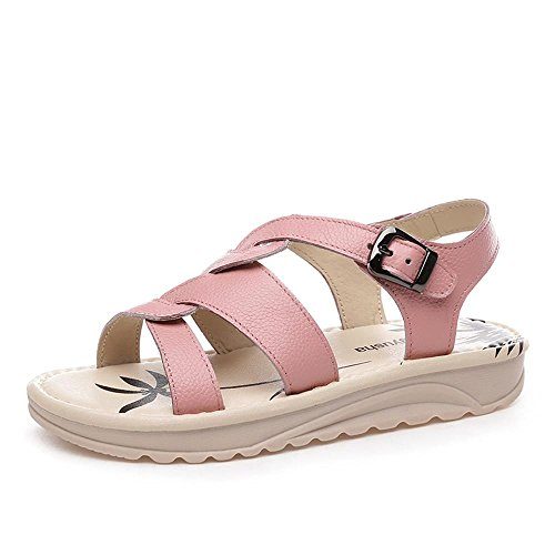 ALUK- Chaussures de plage Bottom ( couleur : Rose , taille : 37 ) Rose