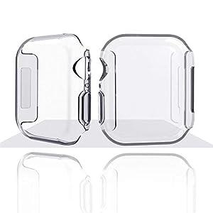 Unbekannt PER Schutzhülle für iWatch Series 4 Thin TPU Transparente Shell 40mm 44mm Zubehör für Apple Watch