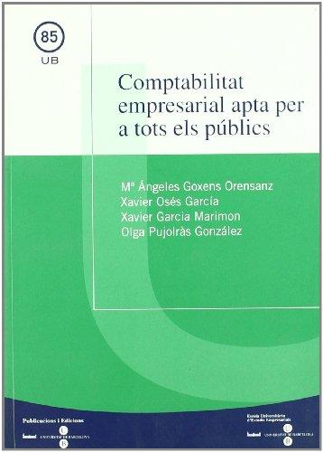 Comptabilitat empresarial apta per a tots els públics por Xavier Osés García