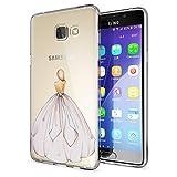 NALIA Handyhülle für Samsung Galaxy A5 2016, Slim Silikon Motiv Case Hülle Cover Crystal Schutzhülle Dünn Durchsichtig Etui Handy-Tasche Backcover Transparent Phone Bumper, Designs:Princess Pink