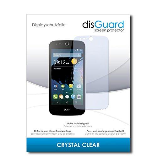 disGuard® Bildschirmschutzfolie [Crystal Clear] kompatibel mit Acer Liquid M330 [4 Stück] Kristallklar, Transparent, Unsichtbar, Extrem Kratzfest, Anti-Fingerabdruck - Panzerglas Folie, Schutzfolie