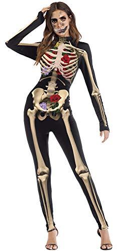 Wenyujh' Damen Halloween Kostüme Bekleidung Body Overall 3D Aufdruck Karneval Cosplay Modern Sexy