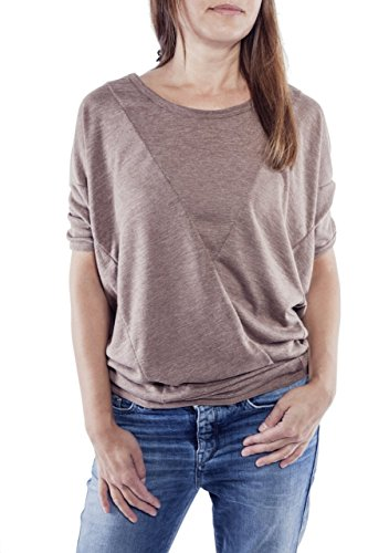 Ella Manue Frauen Oversize Shirt Colette Taupe