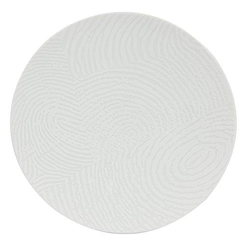 Novastyl 8012709.0 Empreinte Lot de 6 Assiettes Plate Porcelaine Blanc 27 x 27 x 3,1 cm