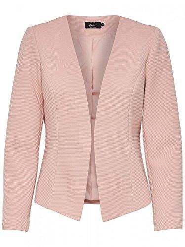 ONLY Damen Anzugjacke Onlanna Short Blazer Noos Tlr, Rosa (Rose Smoke Rose Smoke), 36