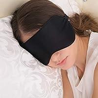 Slaapmasker, JEFlex natuurlijke zijde slaapbril oogmasker met verstelbare riem