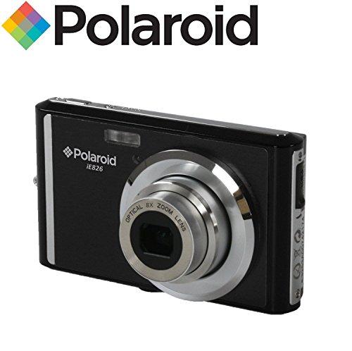 """Ultra Compact Digital Camera da 18 megapixel Polaroid IE826 (18MP 8x zoom ottico, Li-Ion, 2,4 """"di schermo) (nero)"""