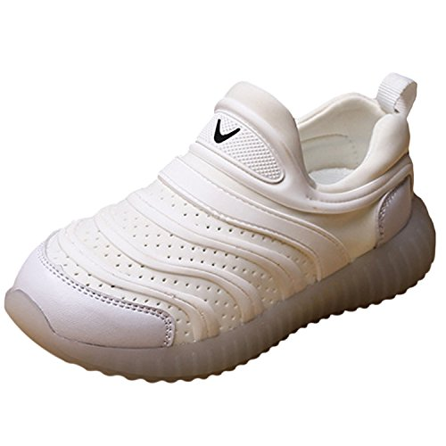 Oasap Unisex Children Fashion Slip-on Flat Sports Shoes White