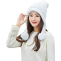 Easy Go Shopping Sombrero de Lana de Punto para Mujer de Invierno cálido  Baotou Earmuffs Sombrero cce150a1959