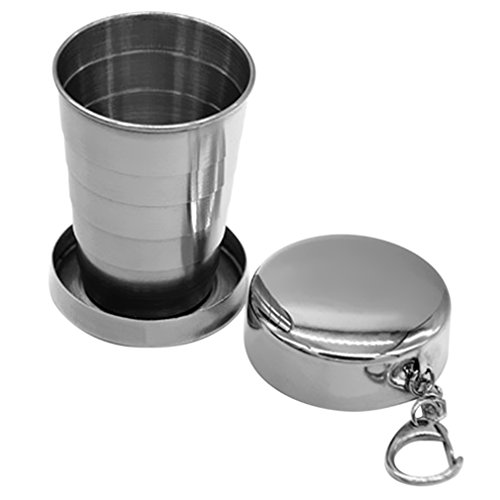 AIYUE Coppa Pieghevole Acciaio Inossidabile Tazza Cup Piegante Portatile di
