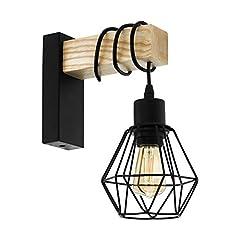 OUSFOT Wandlampe Wandleuchte Innen Cree Led 6W Modern Up Down Wasserdicht IP54 Wandleuchte 3000K Warmwei/ß Schwarz