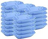Mabax Pommesschale Imbiss Pommes Schale Snack Snackschale Kunststoff Imbisschale gelb und blau (Blau, 25)