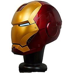 Iron Man Casco MK46 MK7 Inteligencia Artificial 1/1 Real Halloween Cospolay Casco Apertura Y Cierre Eléctrico Mando A Distancia Inalámbrico Usable Edición Coleccionista,MK7-OneSize