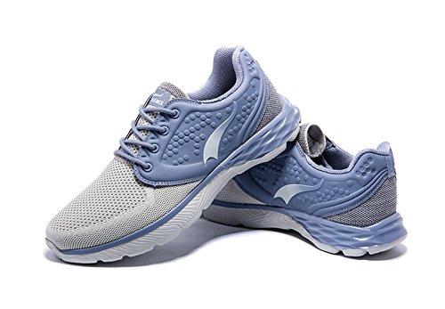Onemix Retro Running Schuhe Herren Atmungsaktiv Tennisschuhe Turnschuhe Sportlich Freizeitschuhe Sneakers Mit Dämpfung,Gr 39-45 Grau
