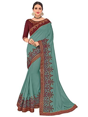 KIMANA Damen Frauen Seide Saree traditionelle Indien Hochzeit Abnutzung Kleid S6452 Seide Saree