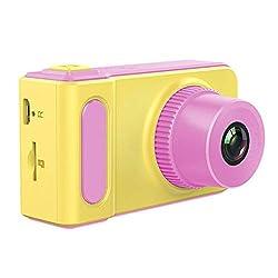 IANSISI Kinderkamera Geschenk DIY Kinder Mini Digitalkamera 2 Zoll Cartoon Nette Kamera Spielzeug Kinder Geburtstagsgeschenk 1280 P Kleinkind Spielzeug Kamera Rosa