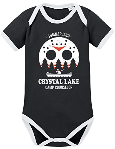TShirt-People TSP Camp Crystal Lake Kontrast Baby Body 80 (Baby Rocker Halloween Kostüm)