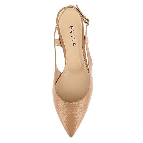 Evita Shoes Franca, Scarpe col tacco donna Beige