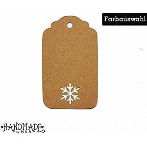 Geschenkanhänger Papieranhänger Tags Etiketten Weihnachten Schneeflocke