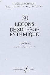 30 Lecons Progressives de Solfege Rythmique Volume 6