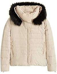 a0bf455442 MANGO Women s Detachable Hood Feather Down Coat 43060594 White