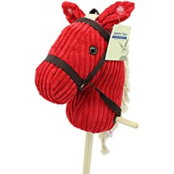 """Sweety-Toys 6755 """" RED Sugar """" CORD COTTON algodón caballo de madera con sonido"""