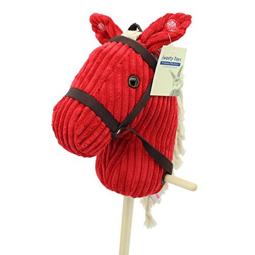 sweety-toys-6755-red-sugar-cord-cotton-steckenpferd-mit-funktion-gewieher-und-galoppgerausch