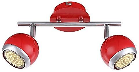 Éclairage plafonnier DEL 6 watts spots lampe chrome rétro design réglable Globo 57885-2