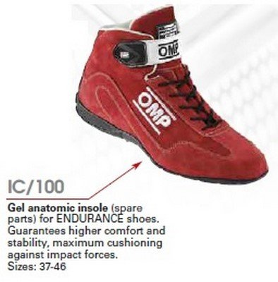 OMP OMPIC/10045 Gel-Einlegesohle für Endurance-Schuhe, Größe45 (Omp Schuhe Racing)