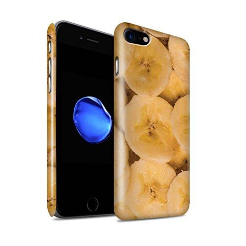 STUFF4 Glanz Snap-On Hülle / Case für Apple iPhone 8 / Melone Muster / Saftige Frucht Kollektion Banane