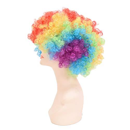 ViewHuge - Peluca para niños, disfraz de Halloween, arcoíris