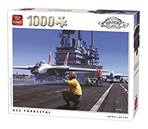 King History Collection USS Forrestal 1000 pcs Puzzle - Rompecabezas (Puzzle Rompecabezas, Historia, Adultos, Hombre/Mujer, 8 año(s), Cartón)