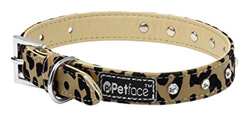 Petface Leopard mit Hund Halsband, XS (Hundehalsband Leopard)