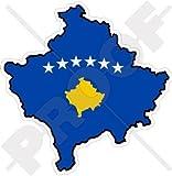 KOSOVO Kosovische Karte-Flagge 100mm Auto & Motorrad Aufkleber, Vinyl Stickers