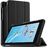 ELTD Custodia Cover per Lenovo Tab E7, Pelle con Funzione di Stand Flip Copertina Smart Case Cover per Lenovo Tab E7 7 Pollice 2018, Nero