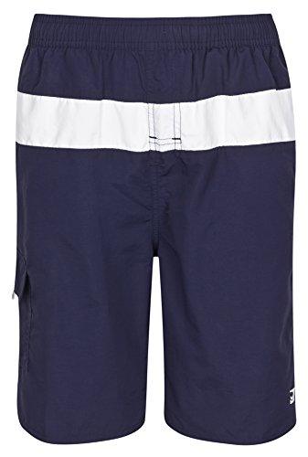 Olibia Mar: moderne Jungen Badeshort in marineblau, Größe 116