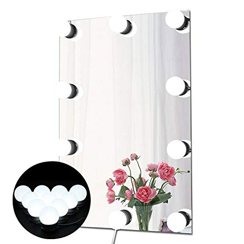 Preisvergleich Produktbild Waneway LED Beleuchtungs-Set für Makeup-spiegel mit Mehreren Farbtönen für Warmes, Natürliches und Tageslicht, Spiegel-Umrandung mit Lichtern im Hollywood-Stil Spiegelleuchte, Spiegel Nicht Inbegriffen