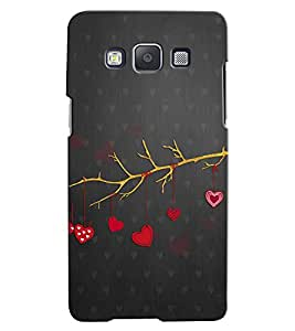 Citydreamz Red Hearts/Love/Valentine Hard Polycarbonate Designer Back Case Cover For Samsung Galaxy A7