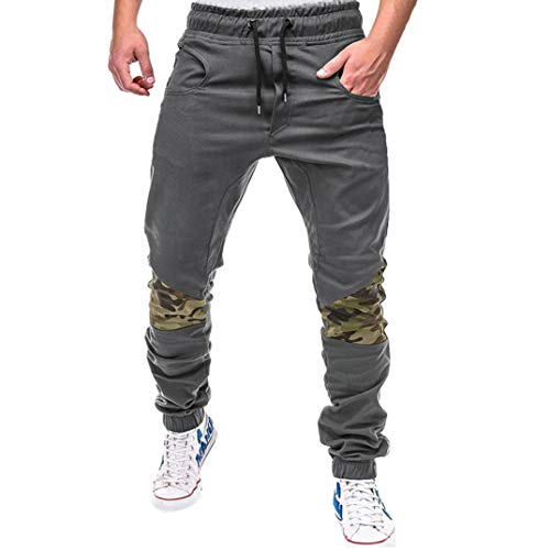 Hombre Pantalones Largos,ZARLLE Moda De Deporte Camuflaje Trincaje Cinturones Casual Loose Pants...