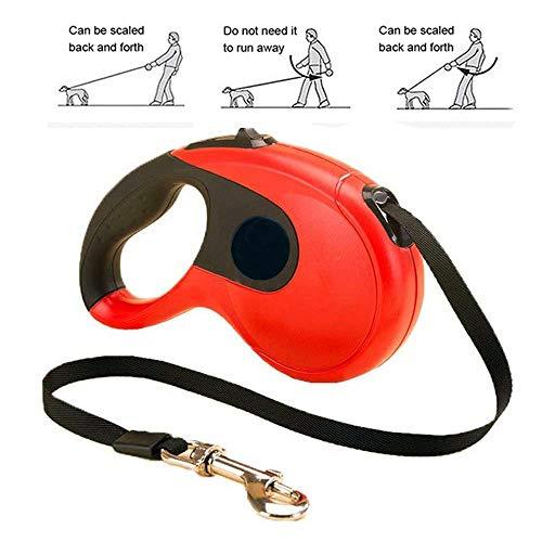 XinLace-EUR 16-Fuß-Automatik-Teleskopleine für Hunde - hochwertiges Zugseil - einziehbarer Hundegurt-Verlängerungsgurt für mittlere bis große Hunde, Sicherheitsgurte im Freien -