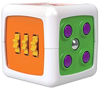 Fisher-Price My First Fidget Cube, Baby Activity and Sensory Toy with Different Textures, Colours and Sounds, 6 Months Plus