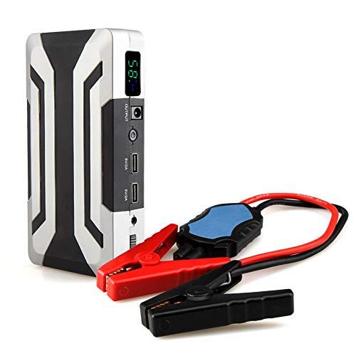 Autobatteriestarter, Notauto-Powerbank-Booster, 1000 A Spitzenleistung, Für Benzin 8,0 L Diesel 6,0 L, Hochleistungs-Autobatterieladegerät, Integriertes 3-Modus-LED-Licht, Intelligente Klemme -