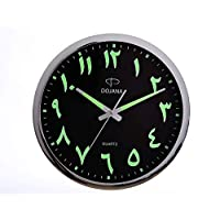 Dojana Wall Clock, Dwg146-Light Brown-Black(English)