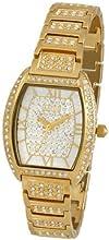 Comprar Aatos JuliusG - Reloj unisex automático, caja y correa de latón bañado en oro, cristales de Swarovski