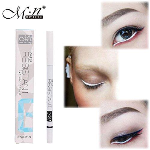 Solike 1 STÜCK Weiß Eyeliner Bleistift Eye Liner Wasserdicht Langlebig Eye Erhellen
